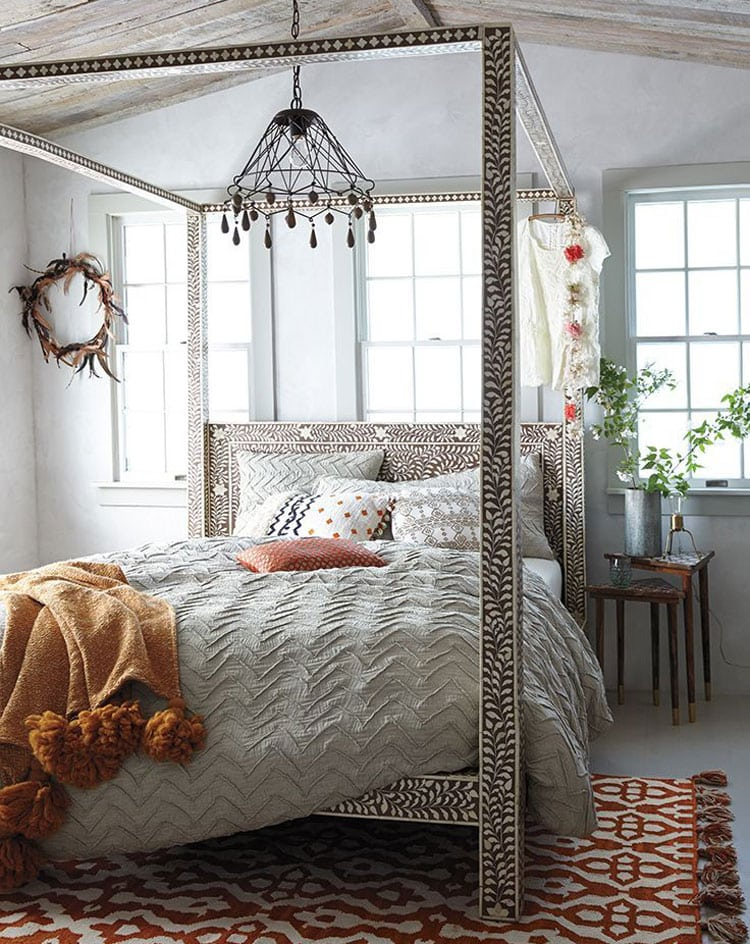 Unique Chic Boho Bed Frame