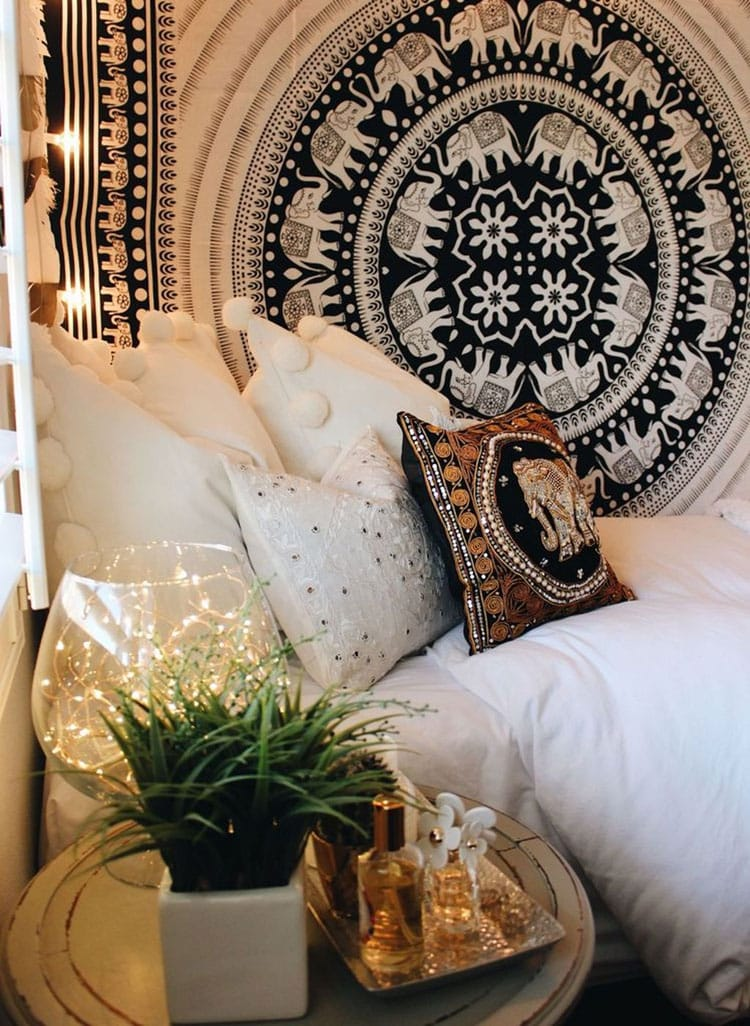 White Boho Bedding