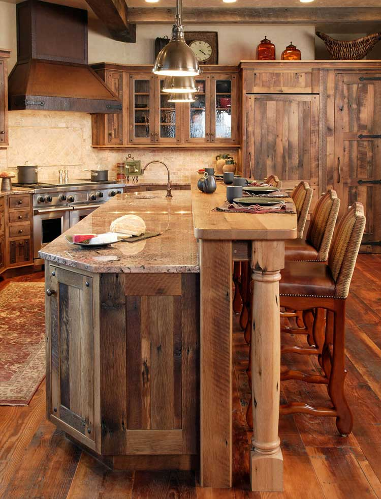 All Rustic Wood Cabinets