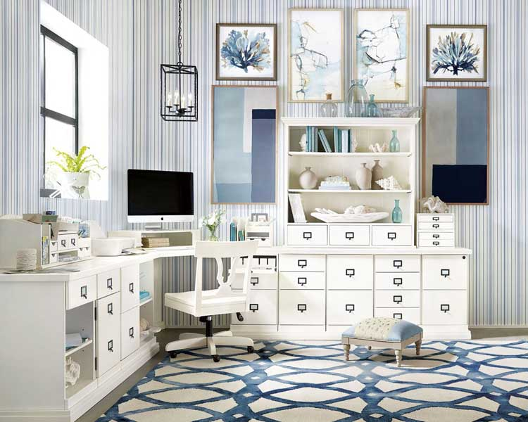 Blend Patterns and Textures in Bedroom Home Office