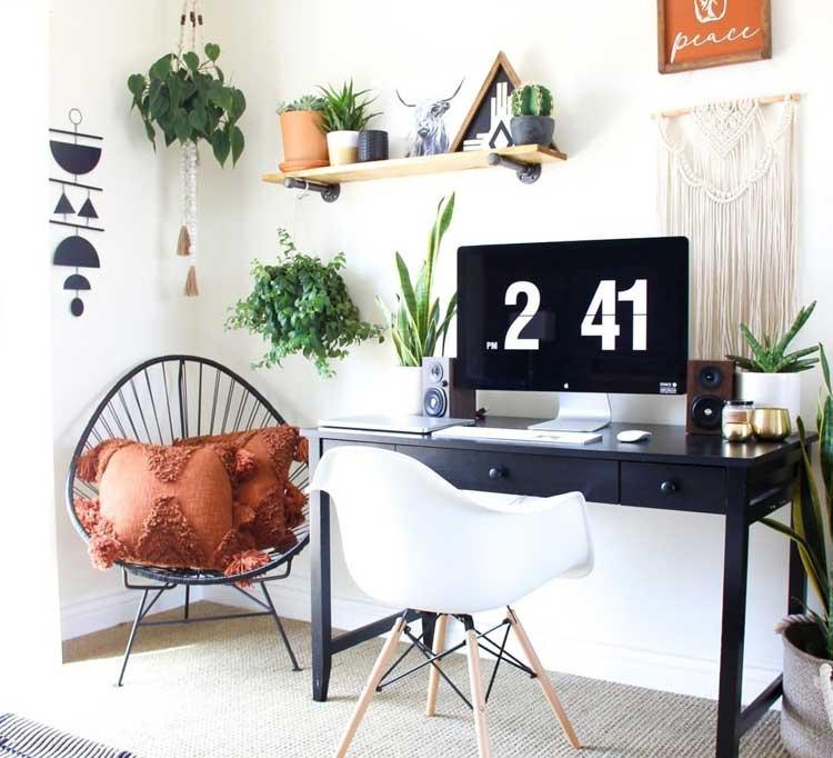 Boho Chic Bedroom Office