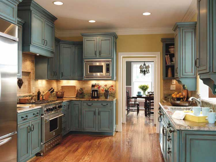 Brighten Up A Rustic Kitchen with Cheerful Colors