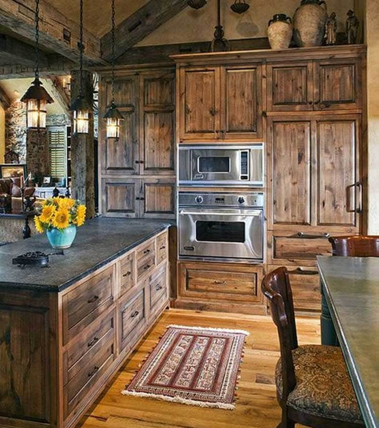 Classic Rustic Kitchen Cabinets