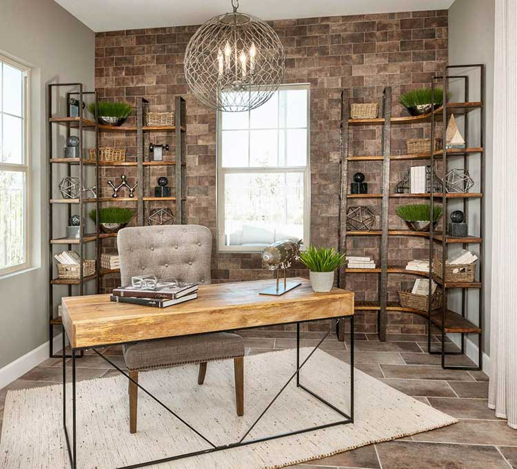 Clean Office Space in Master Bedroom