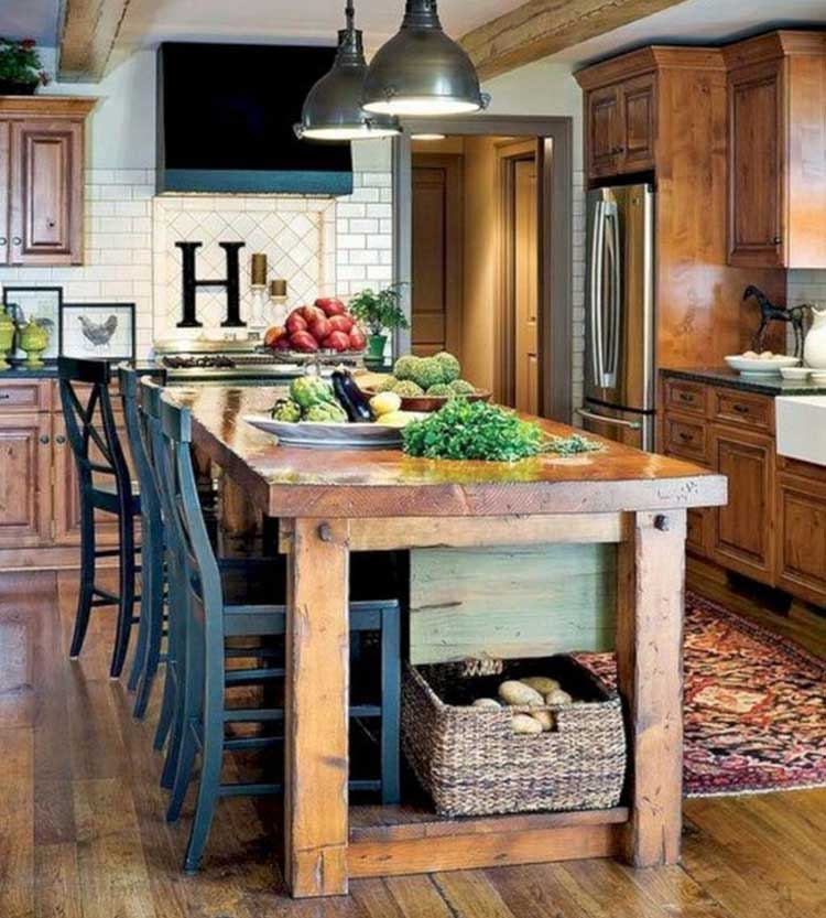 Come Together At A Combined Kitchen Island-Table Combo