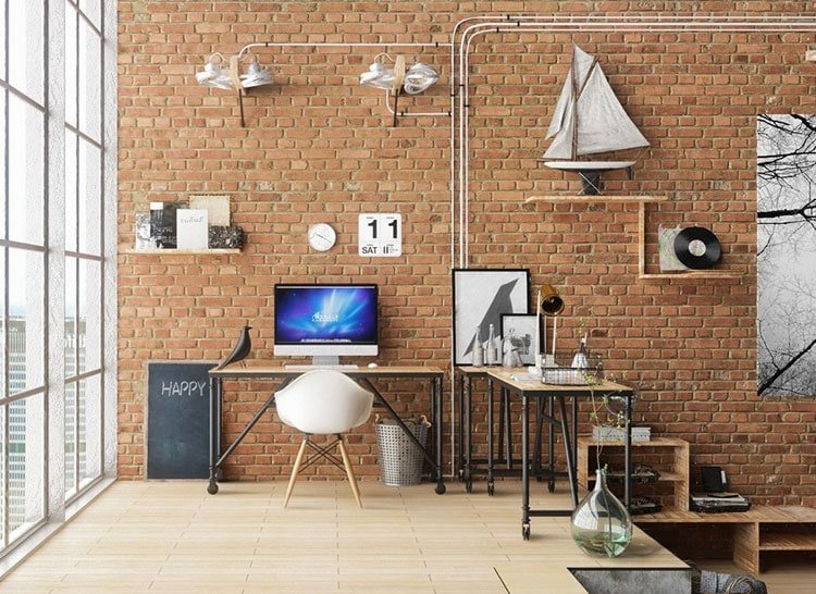 Cool Work Space in Apartment Loft