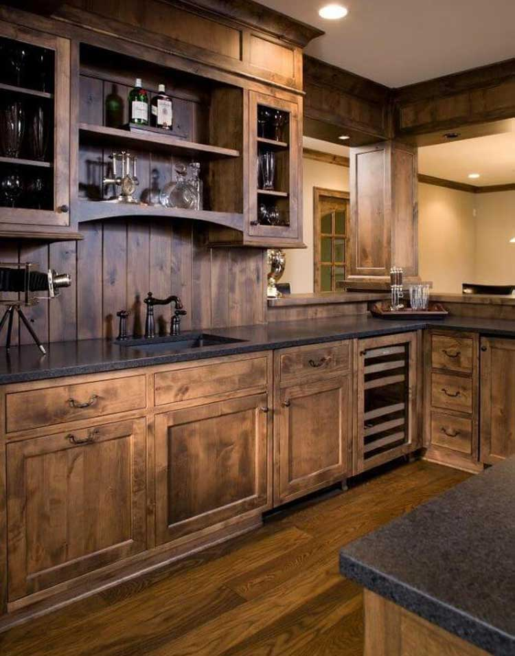 Create A Modern Rustic Kitchen with Rustic Oak Cabinets
