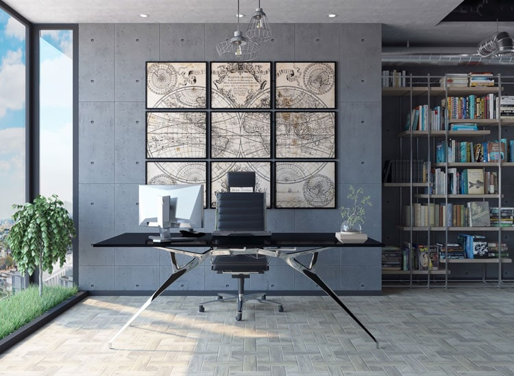 Create Work Space in Your Loft For A Modern Home Office Area