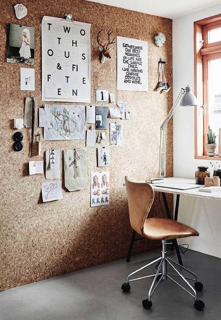 Creative Corkboard Wall