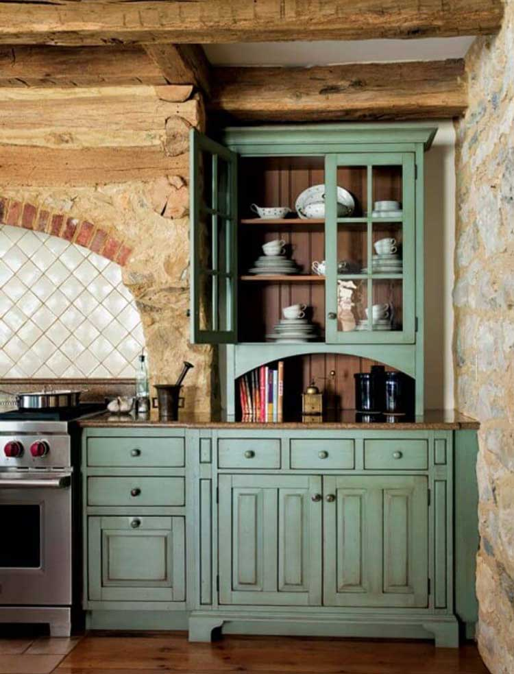 Decorate Cabinets with a Splash of Color