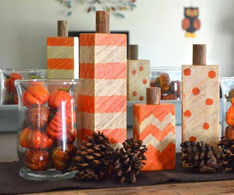 Festive Wooden Blocks