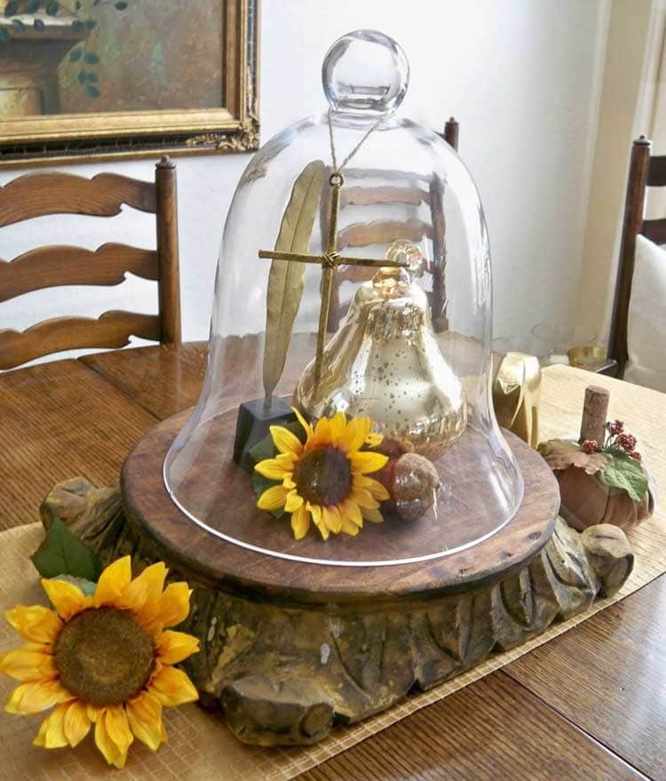 Glass Cloche Centerpiece