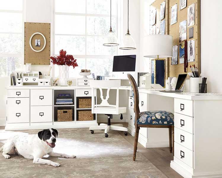 Large Home Office Desk in Master Bedroom