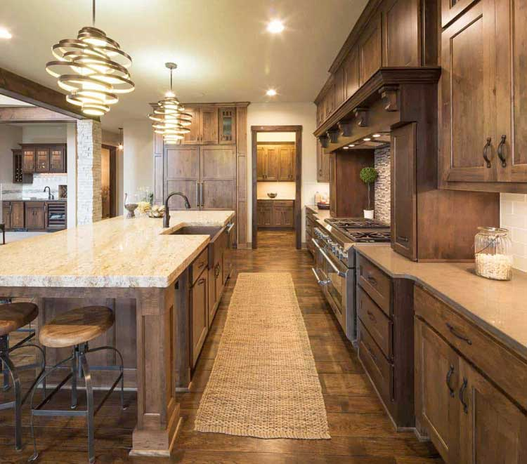 Luxury Kitchen with Modern Cabinets and Wood Accents