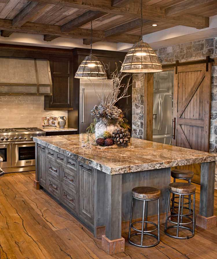 Natural Elements Bring A Rustic Style