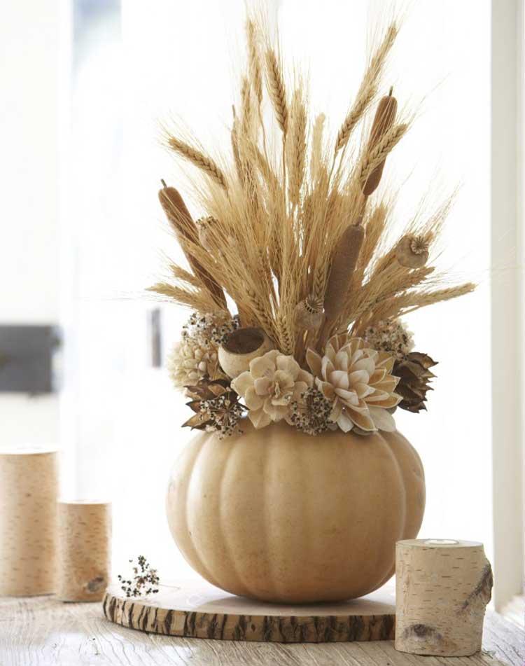 Neutral Gourd Vase For Grains