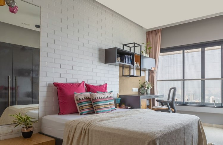 Open Bedroom Layout with Study Table