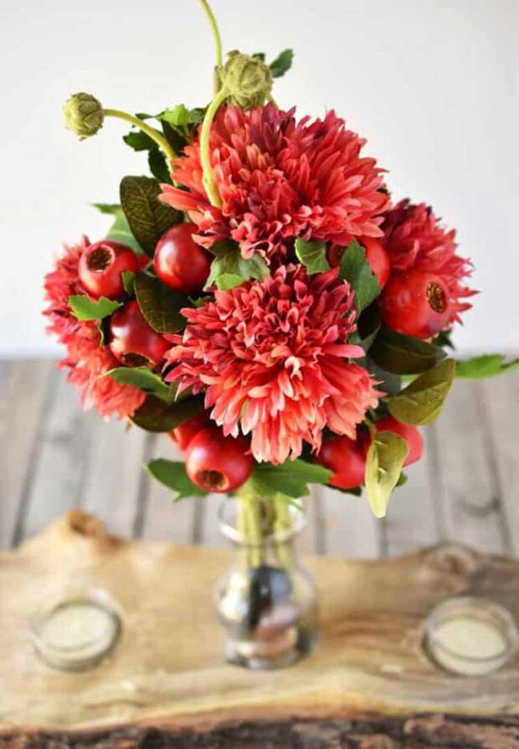 Red Textured Bouquet