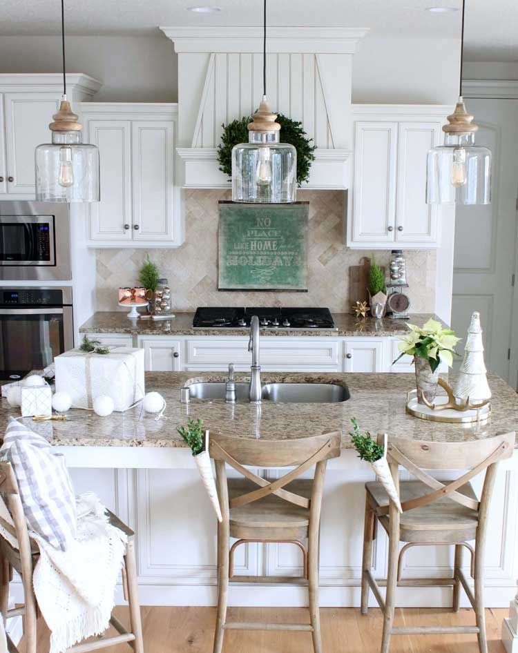 Rustic Decorations Complement Contemporary Kitchen Design