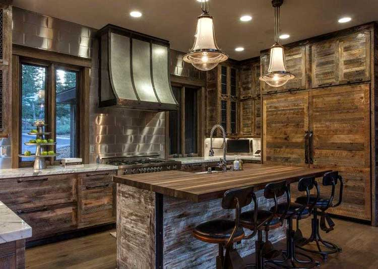 Rustic Industrial Kitchen Cabinets