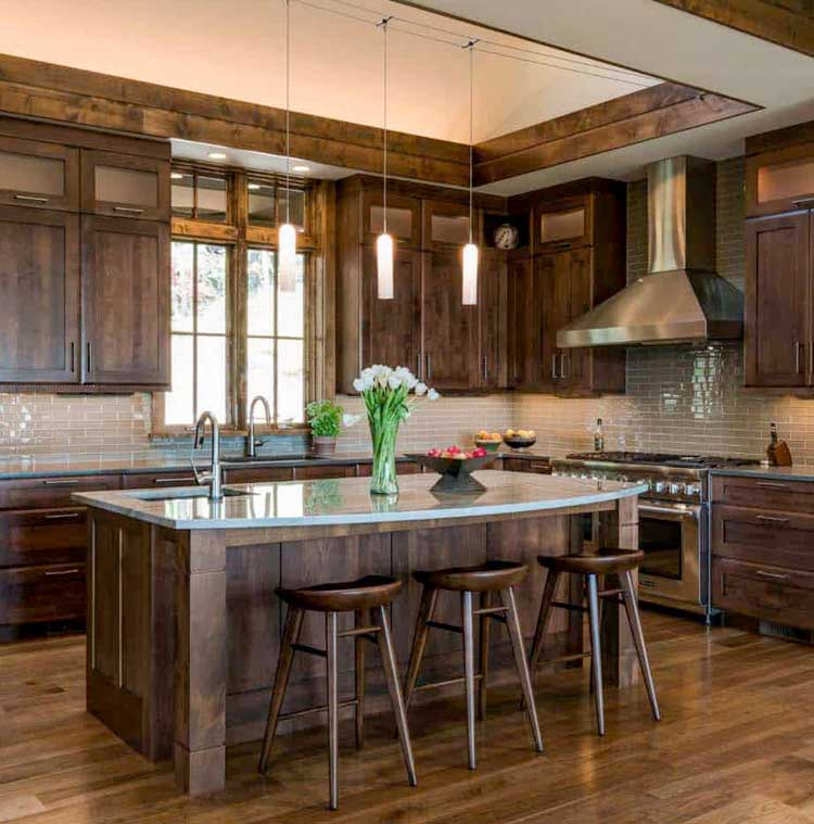 Rustic Wood Grounds A Modern Kitchen