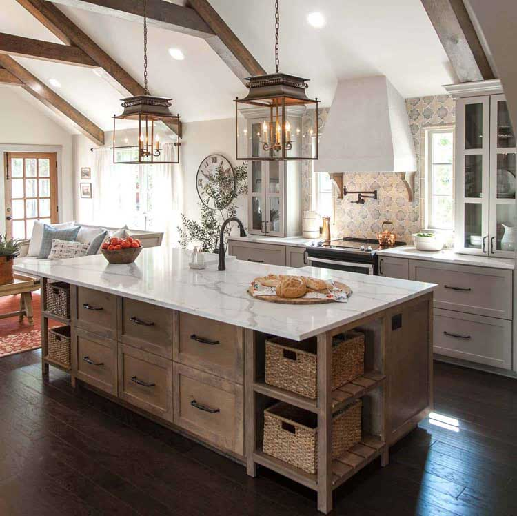 Rustic Wood Kitchen Cabinet Drawers