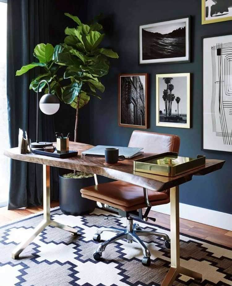Simple Desk with Chair in Master Bedroom