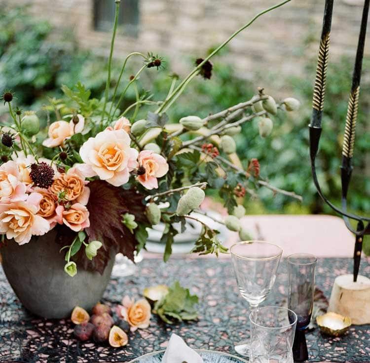 Subtle Fall Floral Centerpiece