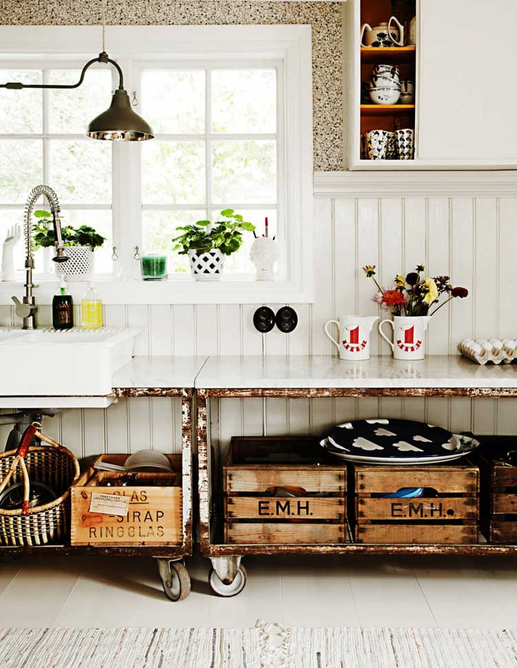 Vintage Furniture Lends Rustic Flair