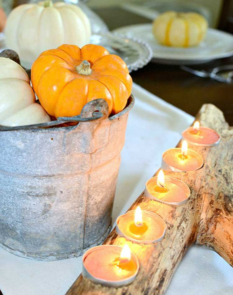 Votive Branch with a Bucket of Gourds