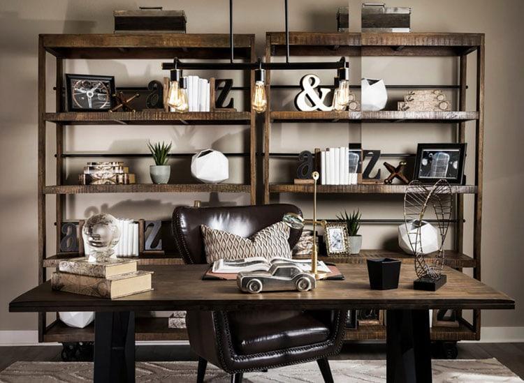 Wood Desk For A Modern Office Room Setup