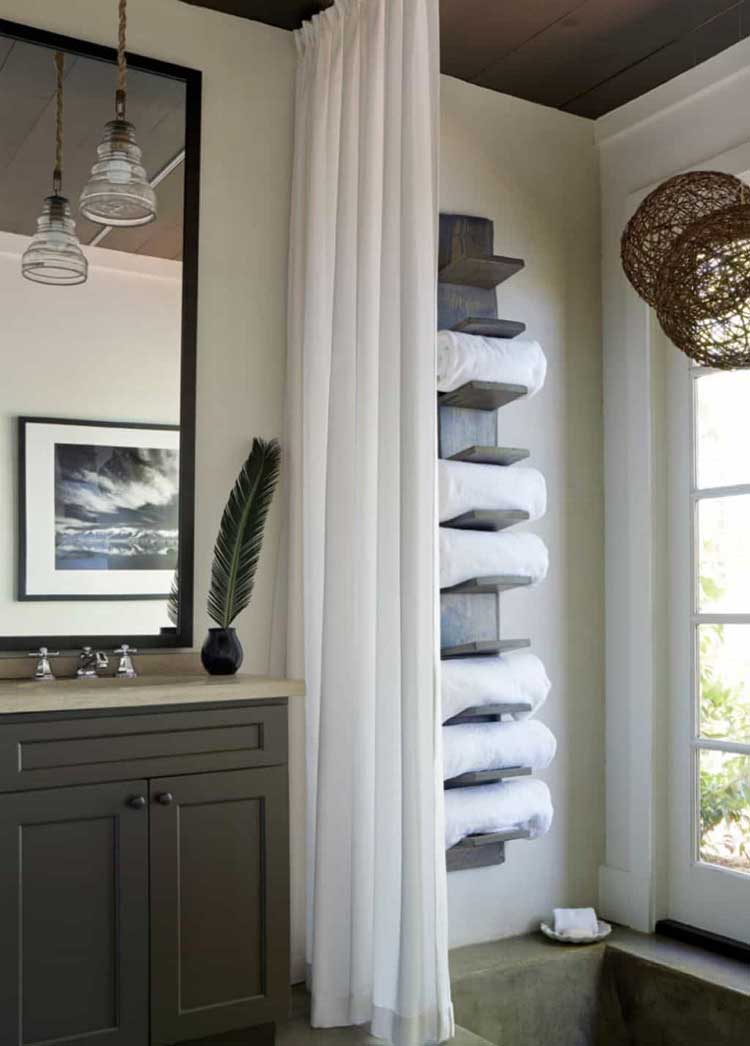 Amazing DIY Bathroom Towel Storage
