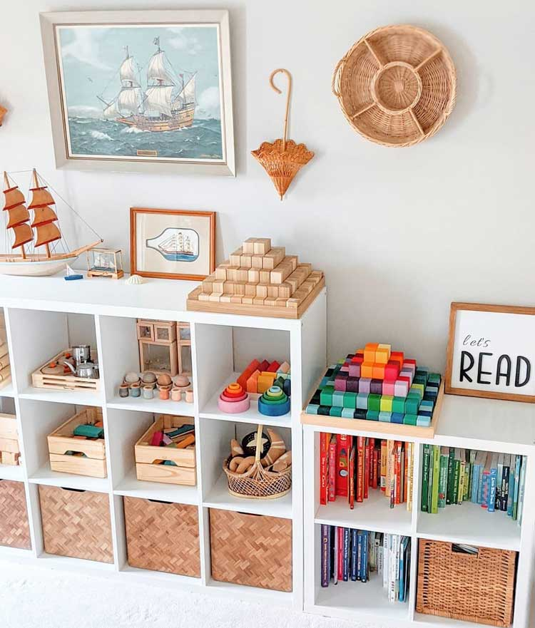 Beautiful Cubby Organizer For Kids Toys and Books