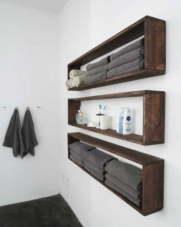 Beautiful Wall Mounted Towel Storage