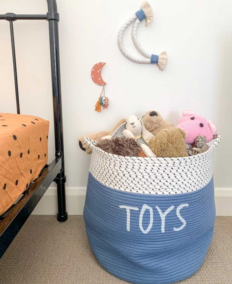 Easy Way To Organize Toys In A Basket