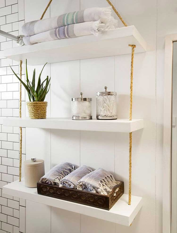 Hanging Towel Storage with Cute Shelves