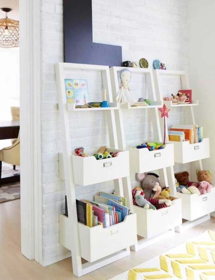Ladder Shelving For Low-Profile Wall Organization