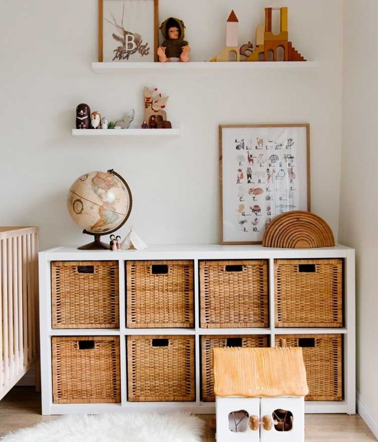 Luxury Baskets and Cube Storage with Shelves