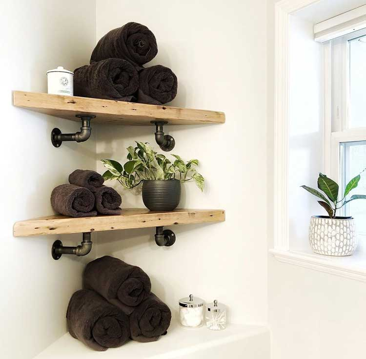 Maximize Space with Corner Shelves