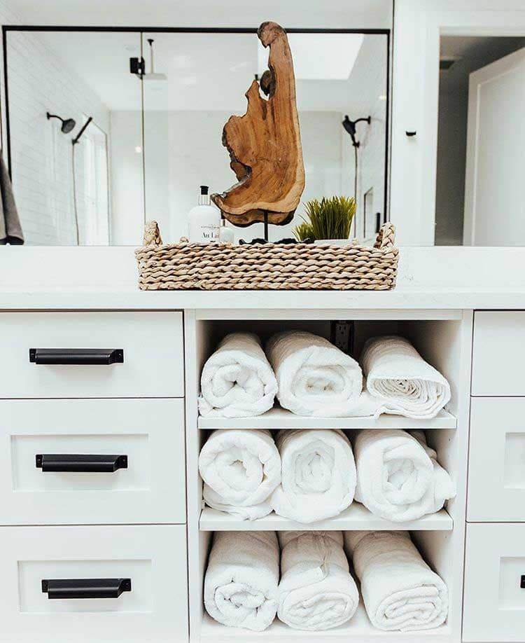 Open Up Your Center Cabinets For Towel Storage