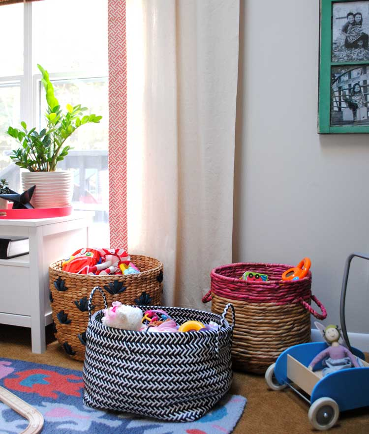 Simple Woven Baskets For Stuffed Animal Storage