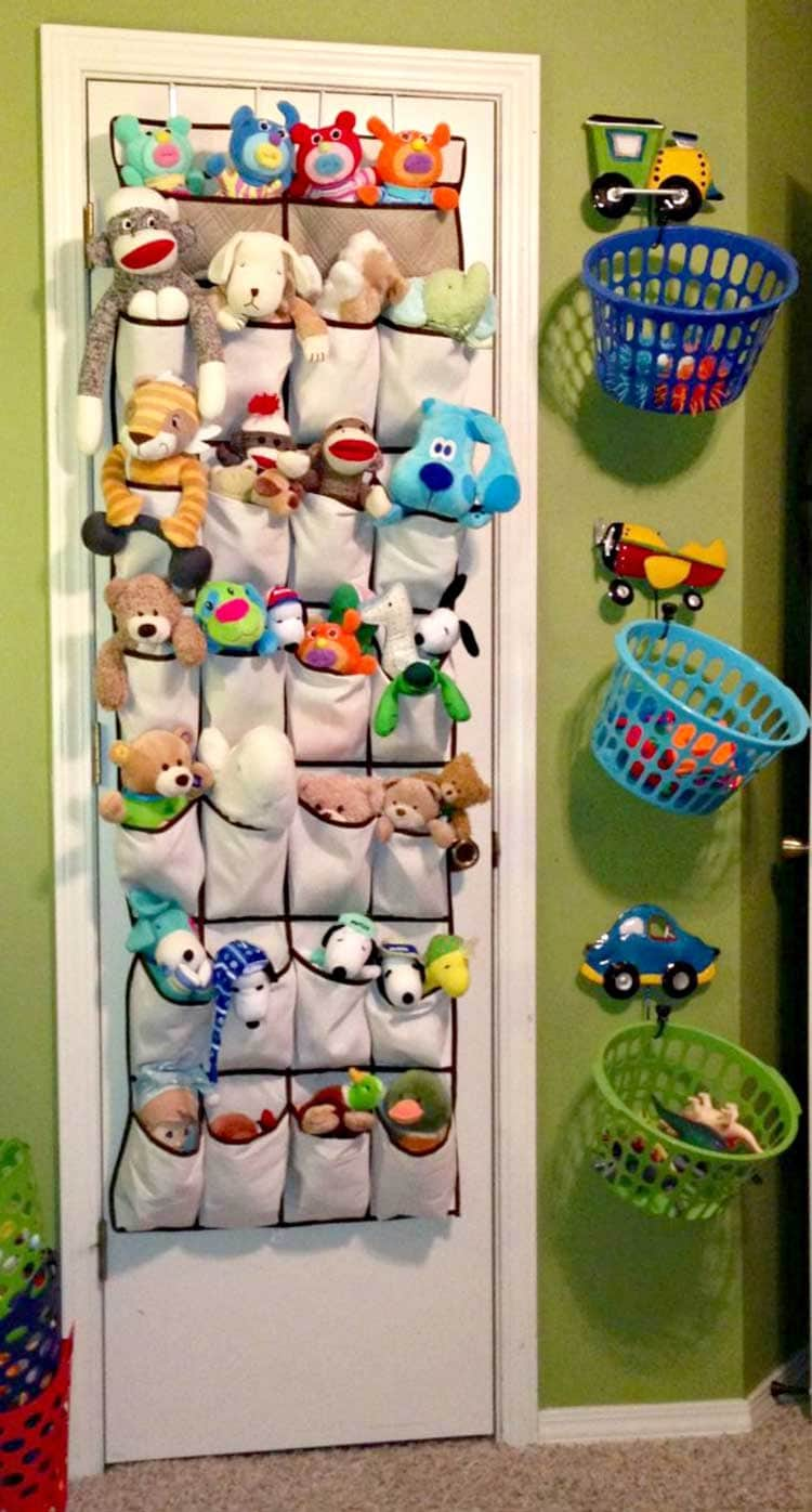 Stuffed Animal Toy Storage on Door