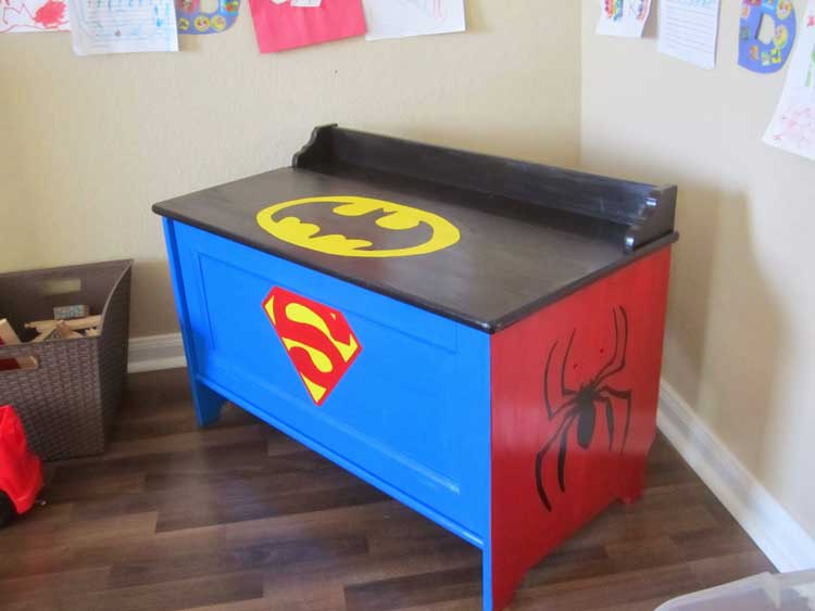 Superhero Inspired Toy Box