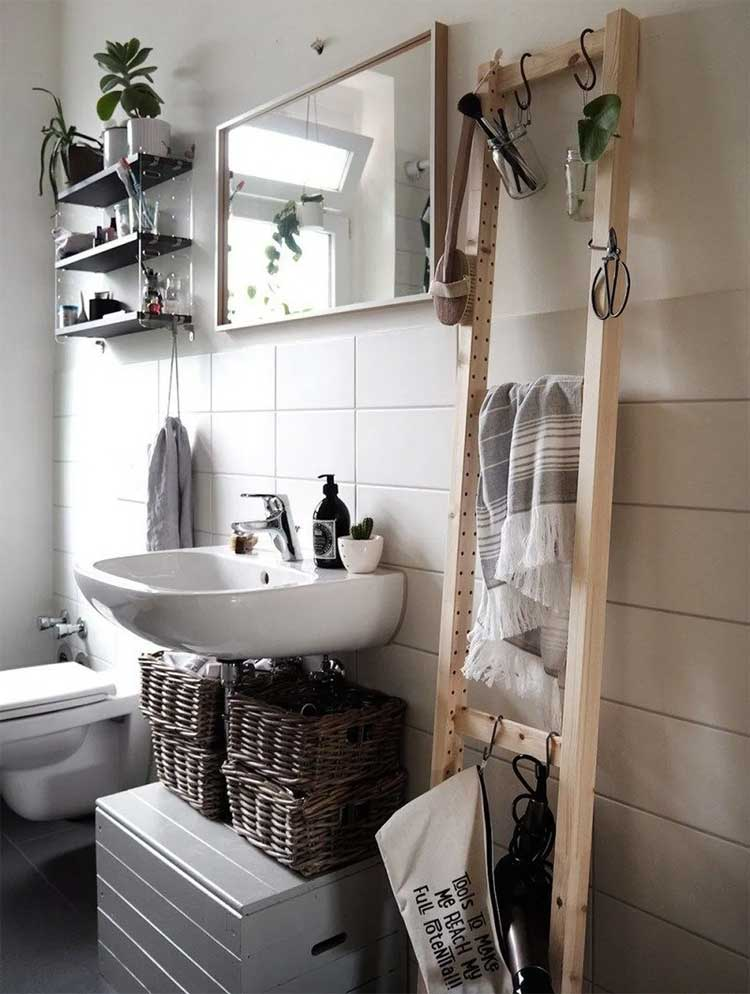 Unique Ladder For Hanging Bathroom Towel