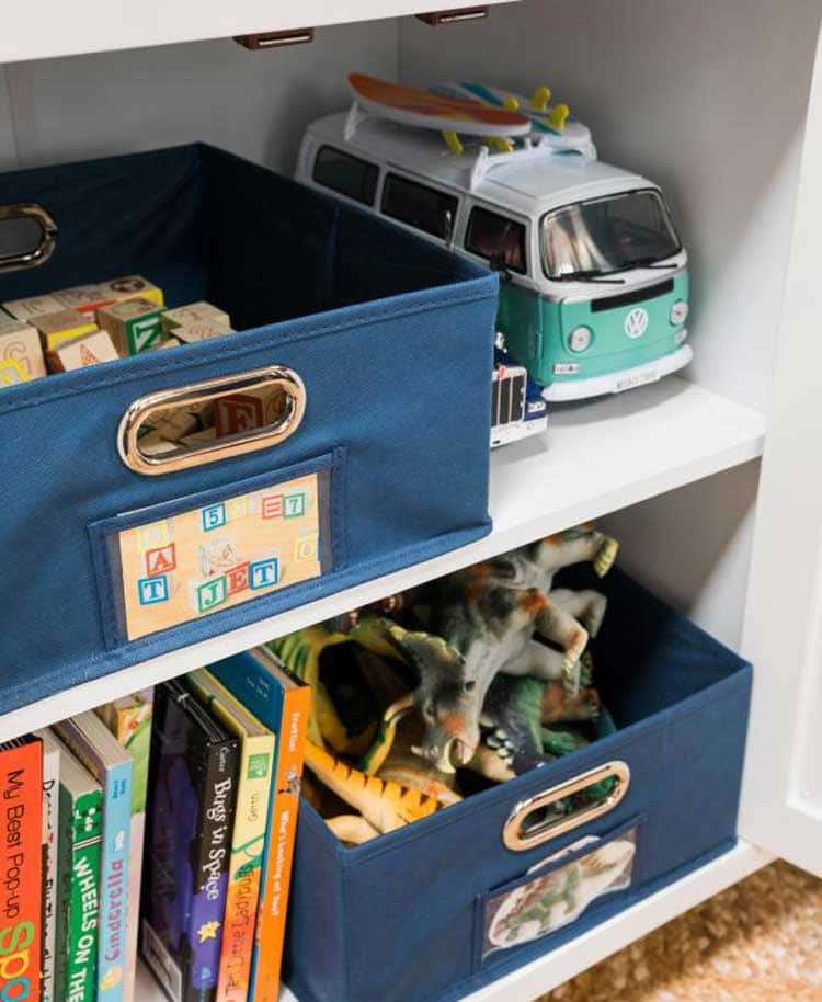 Use Stickers or Pictures To Label Toy Storage