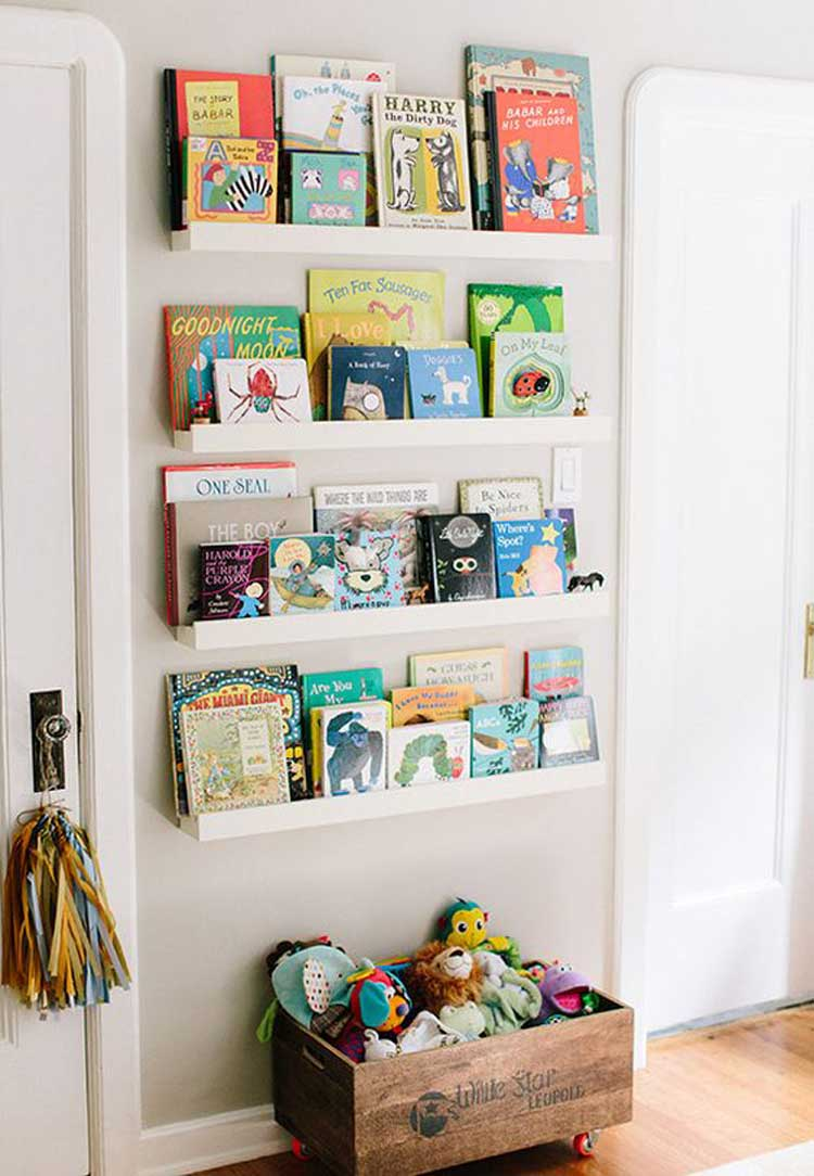 Use Vintage Shelving Storage Solutions For Toy Organization