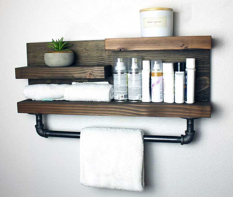 Vintage Pipes Add A Charming Decorative Touch To Wall Shelves