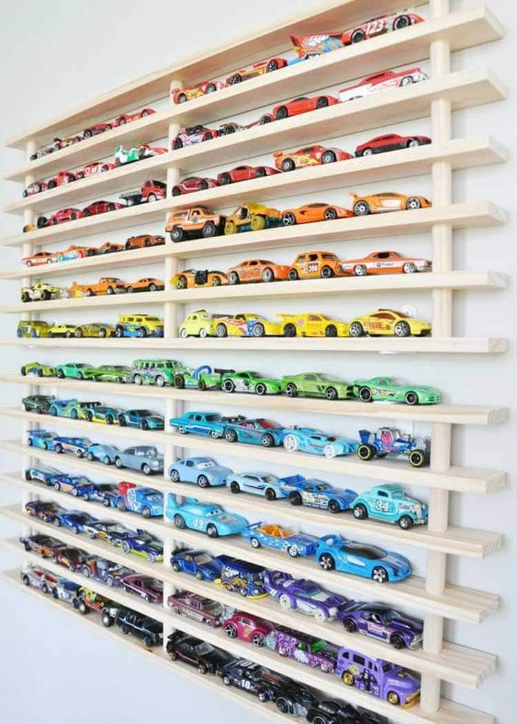 Wall Storage Ideas For Toy Cars