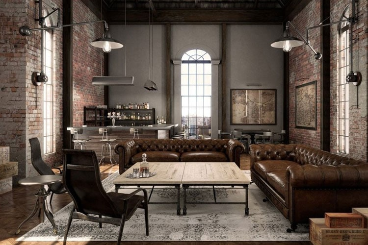 Industrial Interior Design Layout