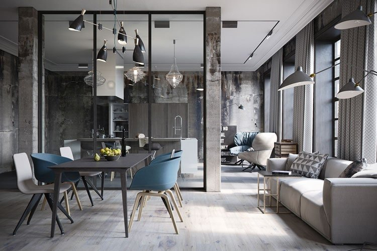 Modern Industrial Style Interior Design